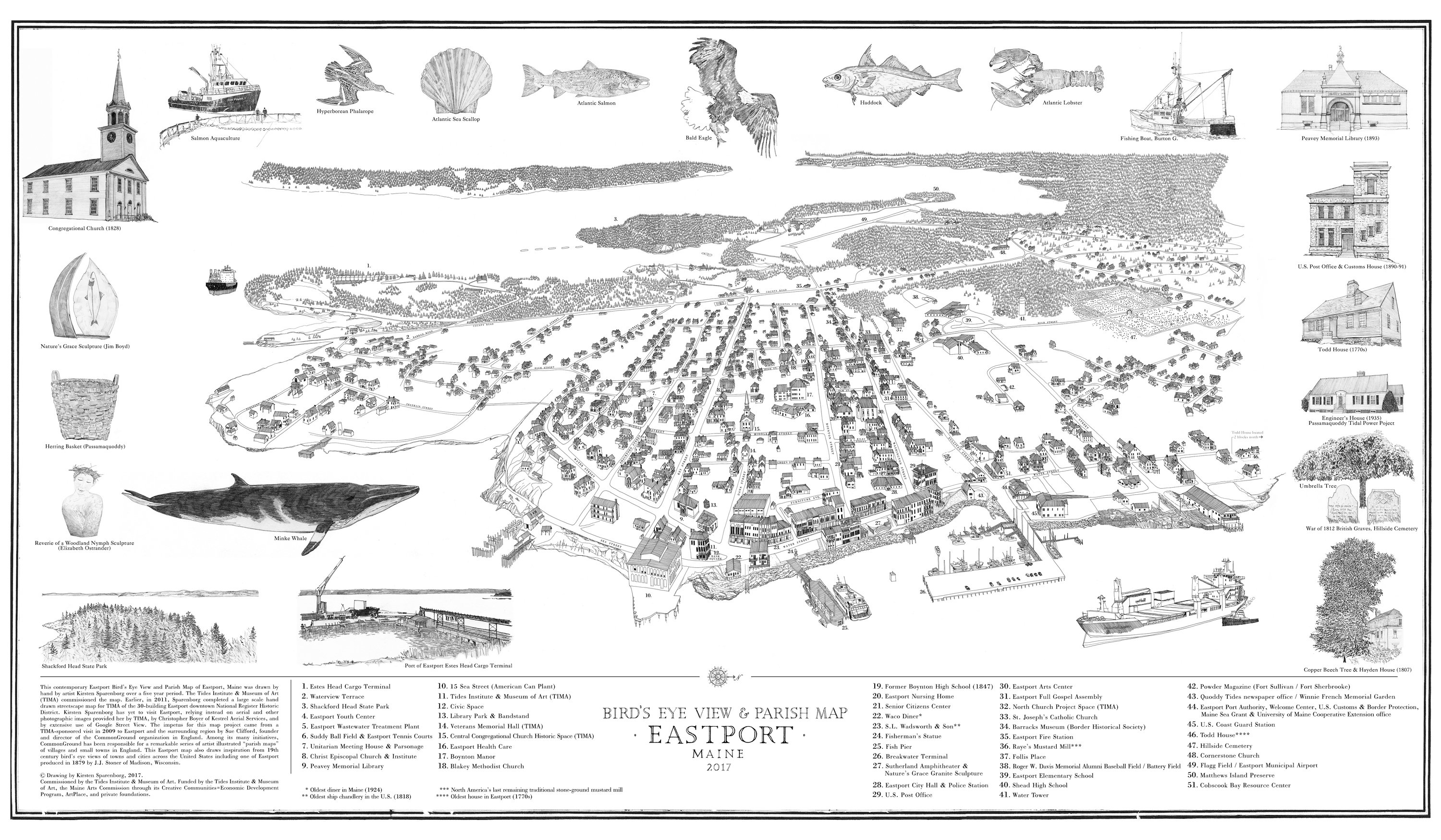 Bird\'s Eye View & Parish Map – Tides Institute & Museum of Art